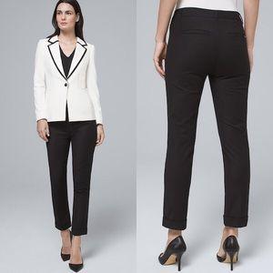 White House Black Market navy slim crop pants